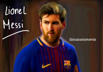 Lionel Messi - Digital Painting by allamandaphotography