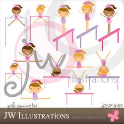 Girls Gymnastics by jdDoodles