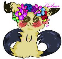 Mimikyu With A Flower Crown by Foikun