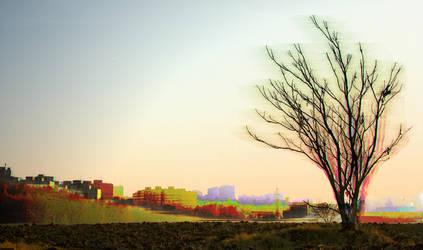 Burning Tree by Bugsle