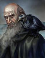 Mormont and his Raven by VVjonez