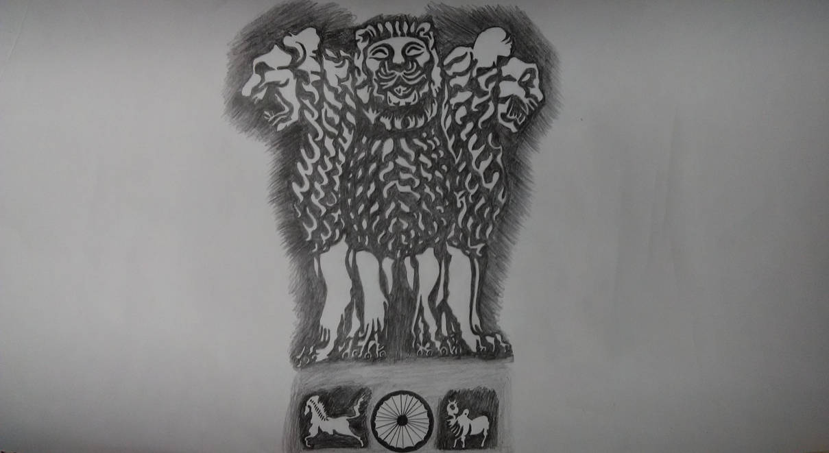 National Emblem Of India by vish26385