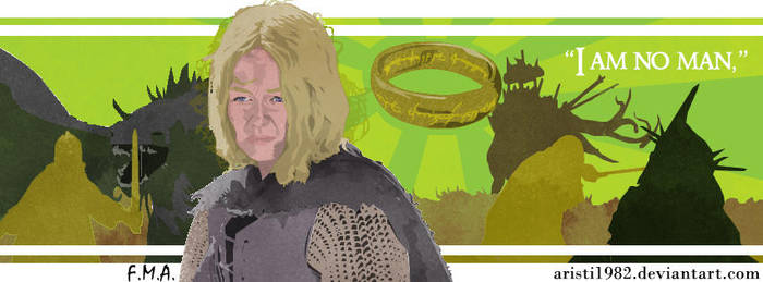 FLAG (Quote) - series 7 - Eowyn by aristi1982