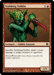 Stabbing Goblin by edwinsoho