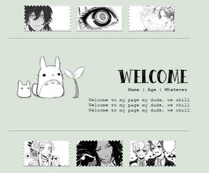 Request: B/W Anime Aesthetic: Non-Core Code F2U by testingcodesaccount