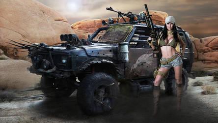 Jasmine Jae - Desert - Wallpaper - 4K by MrLeChuck