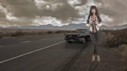 Valentina Ricci - Road - Wallpaper - 4K by MrLeChuck