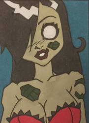 Zombie Tramp - 2018-07-02 Sketch Card by AEIFS