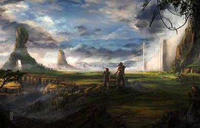 Wall-of-giants-devart by MarkGart