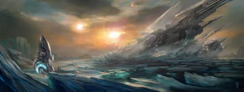 Ice-moon by MarkGart