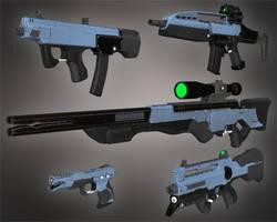 Sci-Fi Firearms WIP by DarioFish