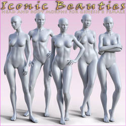 HFS Iconic Beauties for Genesis 8 Female by DarioFish