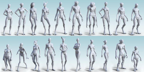 HFS Ultimate Shapes Collection for G8(F) by DarioFish