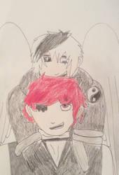 Jasper and Guardian Angel by PurpleGuytheKiller
