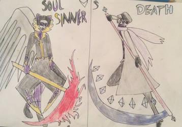 Sinner Vs Death by PurpleGuytheKiller