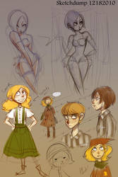 Sketchdump 12282010 by MarionetteDolly