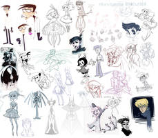 Sketchdump 10102013 by MarionetteDolly