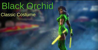 Black Orchid's Classic Costume for KI 2013 by JamesZilla2k11