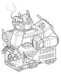 Hoptimus Prime lines by ralphenstein