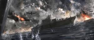 sea battle by algenpfleger