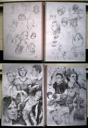 me sketchbook, it is full by algenpfleger