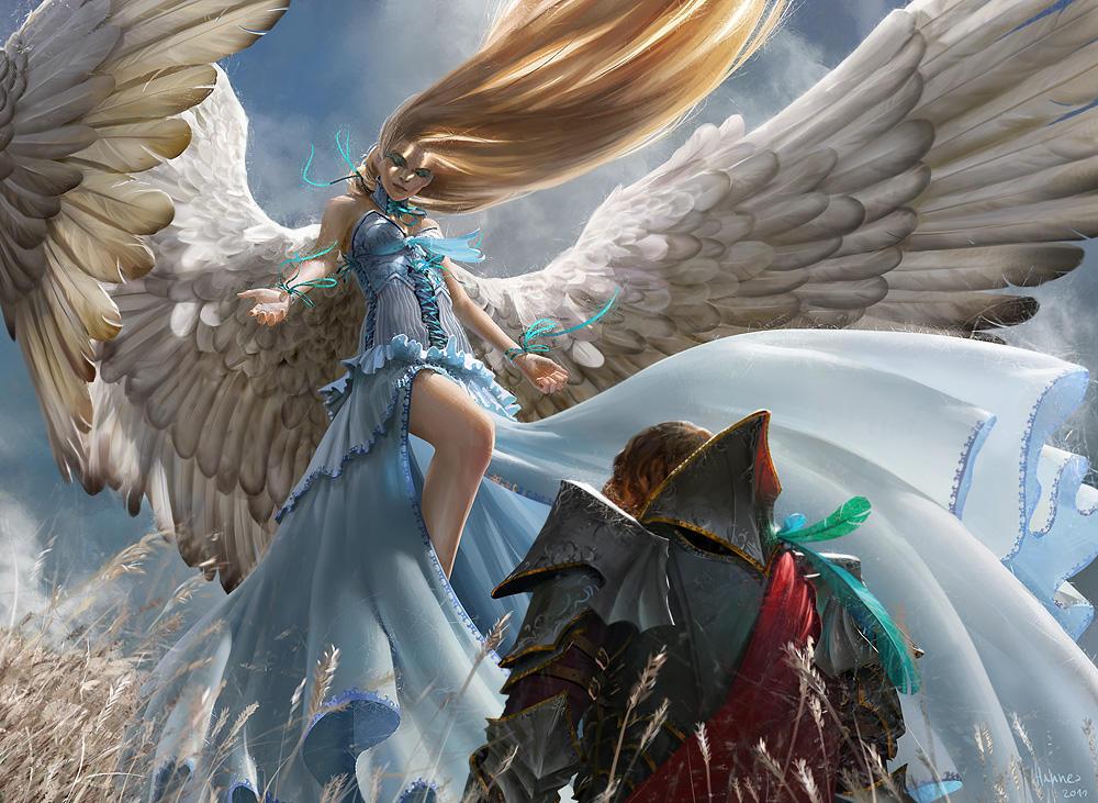Mtg Restoration Angel By Algenpfleger On Deviantart