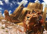 MtG: Lions of Sun Gate by algenpfleger