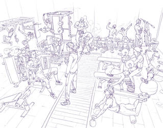 all things considered, a normal day at the gym by algenpfleger