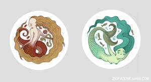 Snake and Fish by zsofiadome