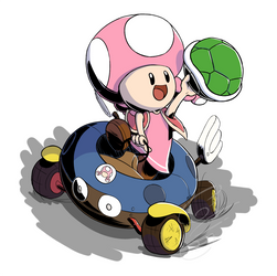 Toadette Mario Kart by Flying-pen