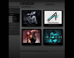 Web page prototype design by PublicCenzor