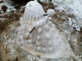 Snow Dalek by Merzian