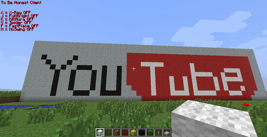 Youtube Logo Minecraft Pixel Art By Mrpokefan108 On Deviantart
