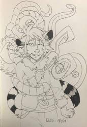 Inktober day 1 ~ Octo by Goldthecat