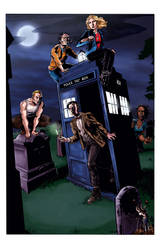 Buffy and Dr. Who by JBEmmett