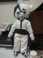 Ulquiorra Plushie by Water-Earth-Fire-Air