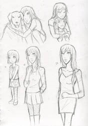 Some Amy Sketches by Water-Earth-Fire-Air