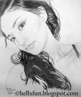 Drawing Portrait by hellxfun