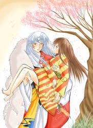 Sessho X Rin - I want flowers- by Mishiko-Saku-Chan