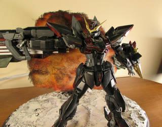 Blitz Gundam Explosion Diorama by AdventEchoes