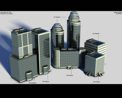 Skyscraper Collage - Low Poly by eRe4s3r