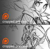 Patreon Sketch Previews 2 by DemonRoad