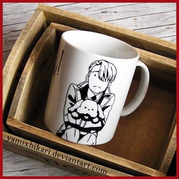 Viktor Nikiforov Chibi Hand-painted Coffee Mug by yamixhikari