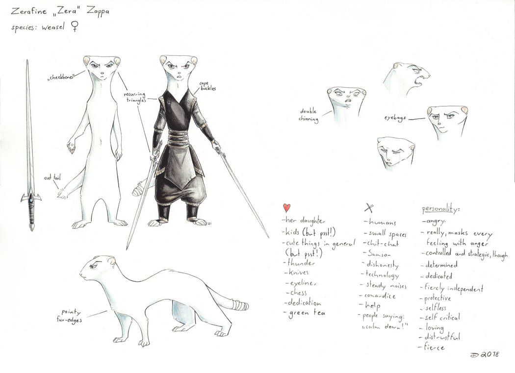 Zerafine character sheet by Alagvaile
