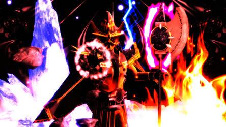 [MMD KAMEN RIDER] Elemental Sorcerer by MIST-TO-GUN