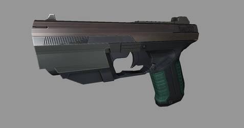 Sci fi Pistol WIP 1 by SecondShadow17