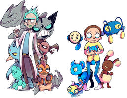 Pocket Mortys by starblinx