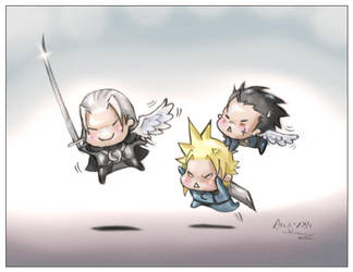 Sephy Cloud e Zack color by Angy89