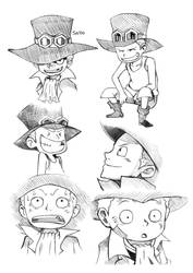One Piece Sabo Sketches by Angy89