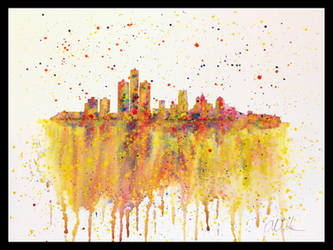 Detroit Watercolors by peimar